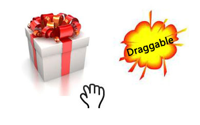 Draggable gift function